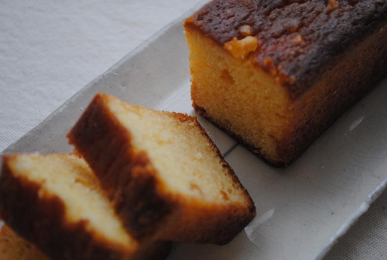 萩・夏みかんのパウンドケーキの写真